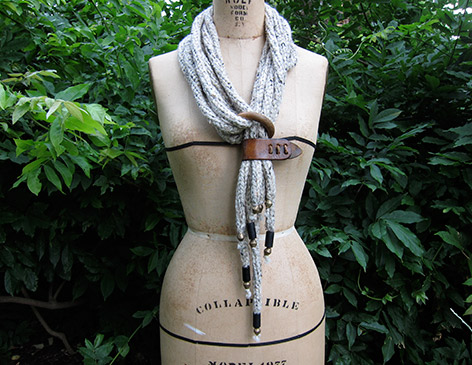 KNit Necklace Scarf